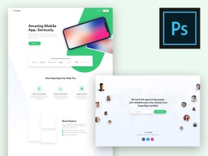 Free Landing Page Template for App Presentation