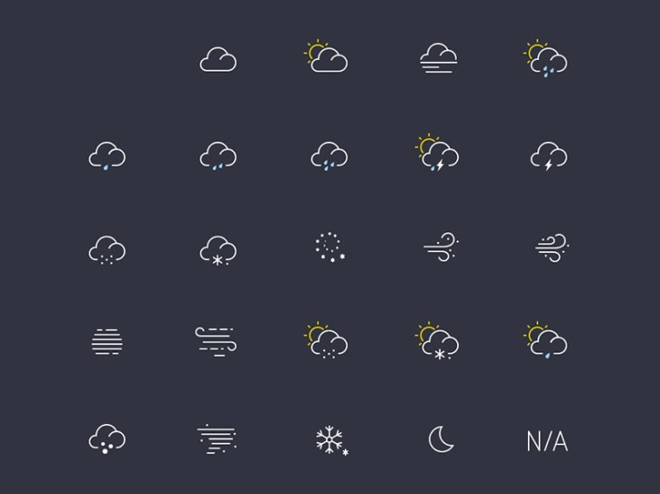 Free Light Weather Icon Set