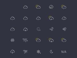 Free Light Weather Icon Set