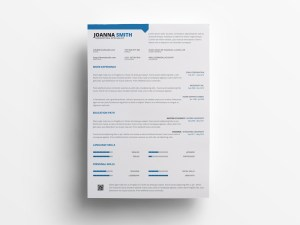 Free Marketers Resume Template PSD