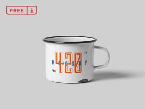 Free Metal Mug Mockup PSD