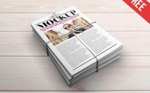Free Newspaper Ads Mockup PSD