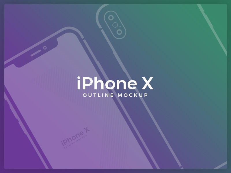 Free Outline Vector iPhone X Mockup