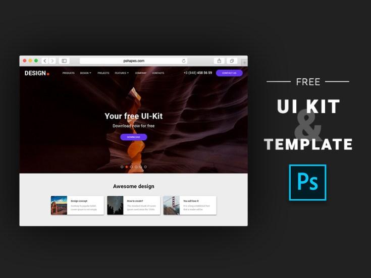 Free Photoshop UI Kit