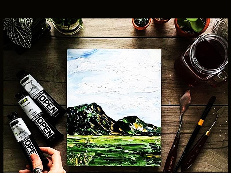 Free Realistic Painting Mockup PSD