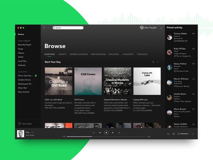 Free Spotify Mockup PSD