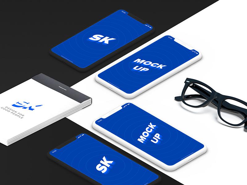 Free Stylish iPhone X Mockup