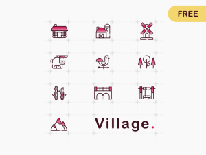 Free Village Icons Set