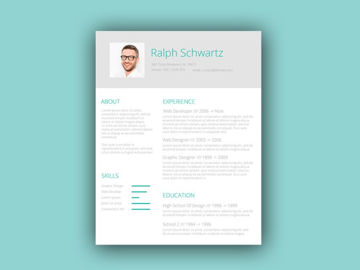 Free Green Themed Resume Template