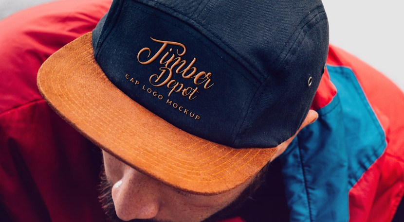 Free Cap with Embroidered Logo Mockup PSD