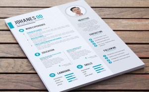 Free Clean PSD Resume Template