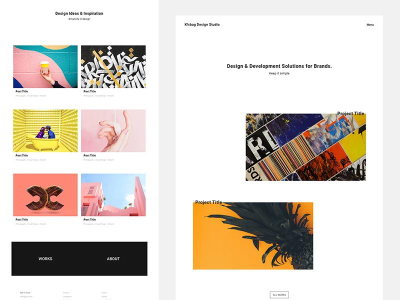 K!sbag – Free Minimal Portfolio Website Template