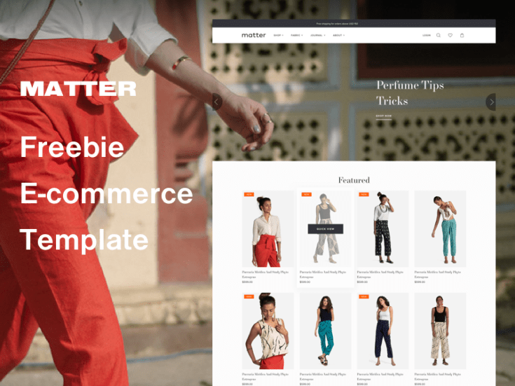 Matter - Free Sketch Ecommerce Website Template