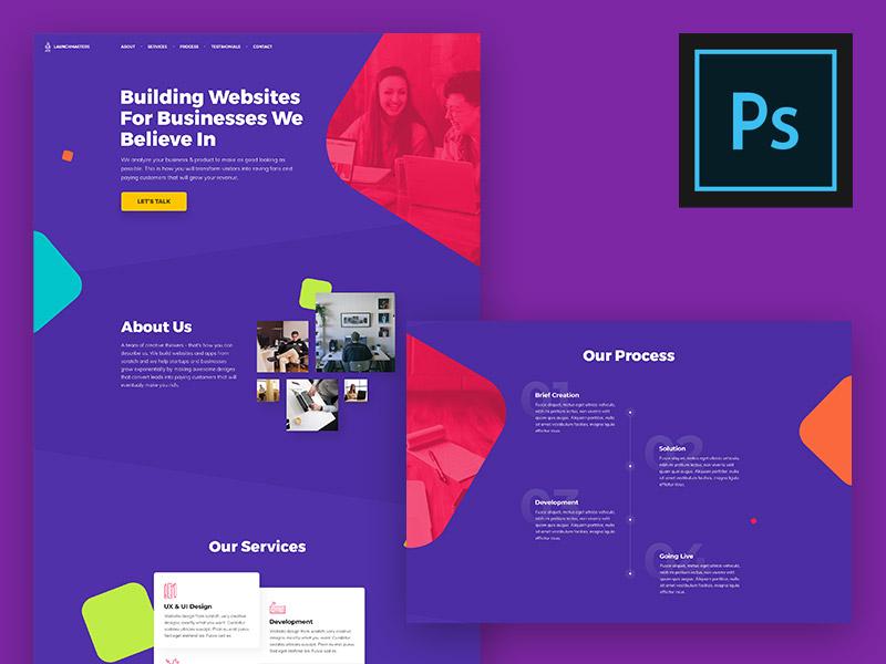 Modern Landing Page PSD Template