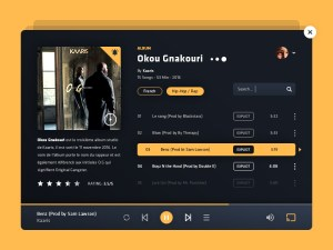 Music Player Web UI Template