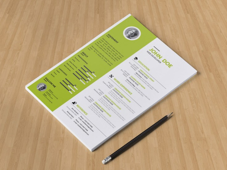 Free Minimal Personal Profile CV Template