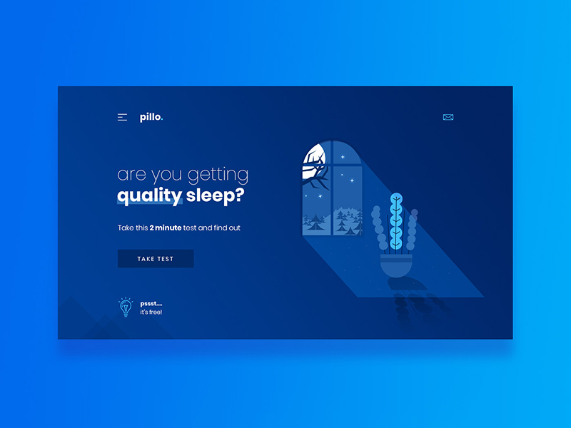 Pillo Free Landing Page Template