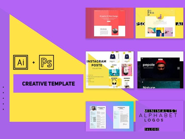 Free Portfolio Templates in Illustrator and Photoshop