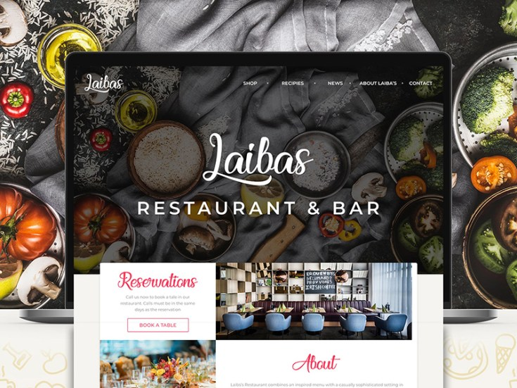 Restaurant & Bar Landing Page Template