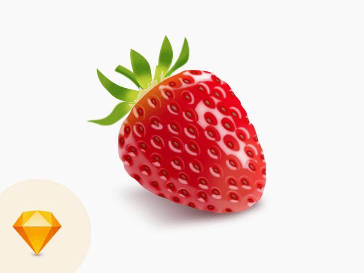 Strawberry Sketch Vector Illustration