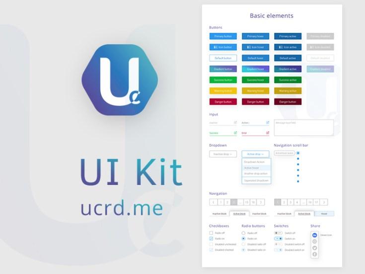 Free UCRD UI Kit PSD