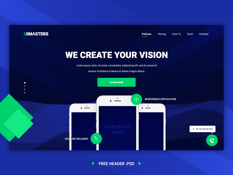 UIMasters App Landing Page Template