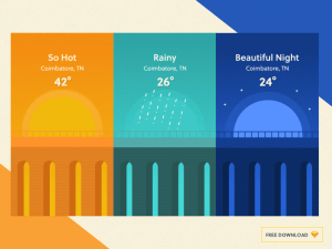 Free Weather App UI Backgrounds