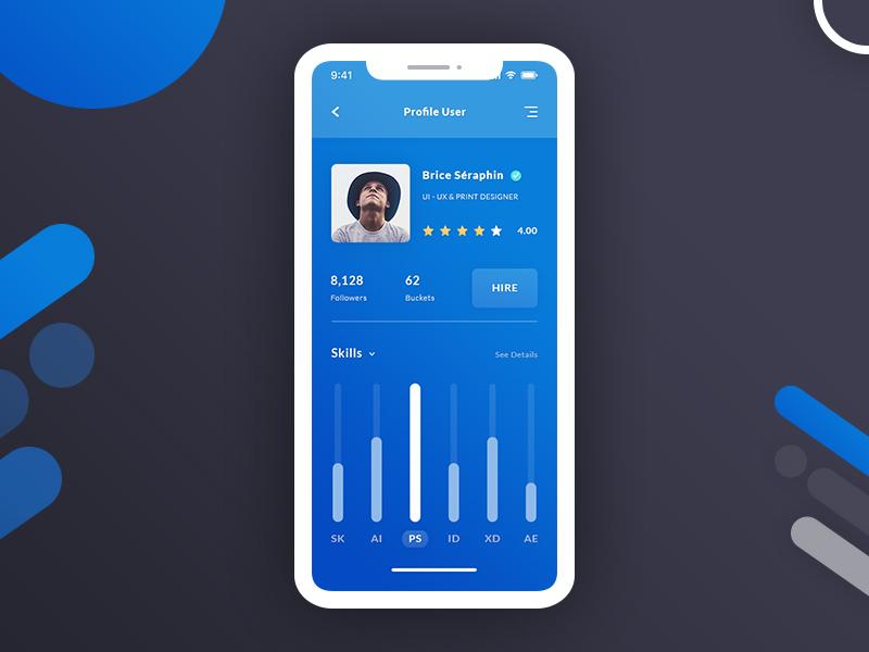 Flat User Dashboard UI Design