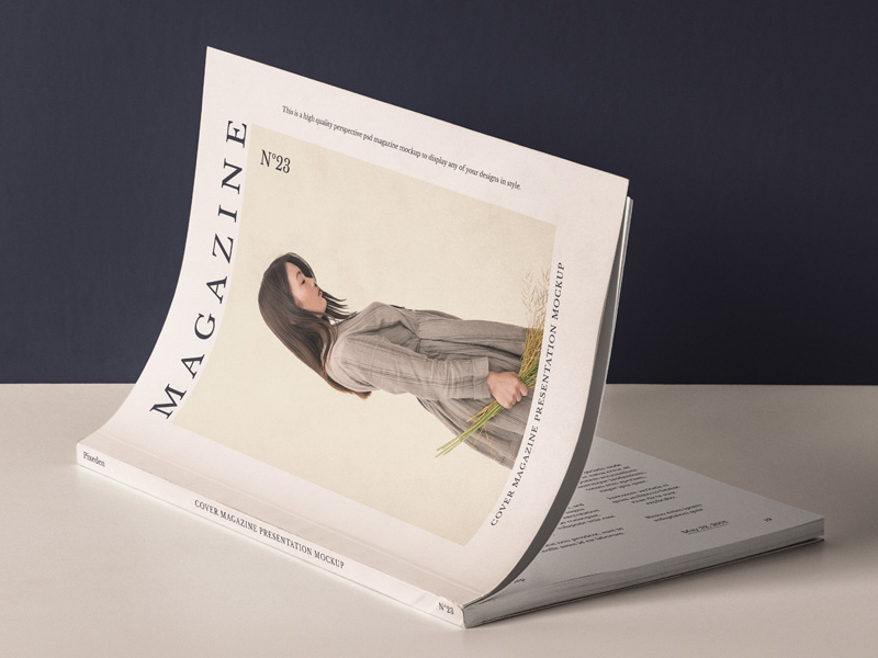Free Cover Magazine Mockup PSD