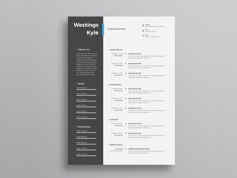 Free Resume Template with Elegant Design