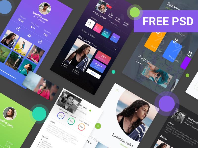 Material Profile UI Design