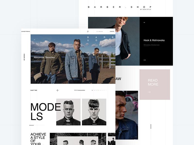Barbershop Website Adobe Xd Template
