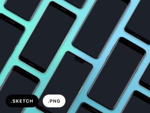 Free Google Pixel 3, Pixel 3 XL, and Samsung Galaxy S9 Sketch Mockups