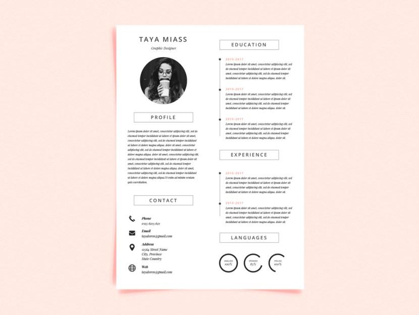Free Super Minimalist Resume Template