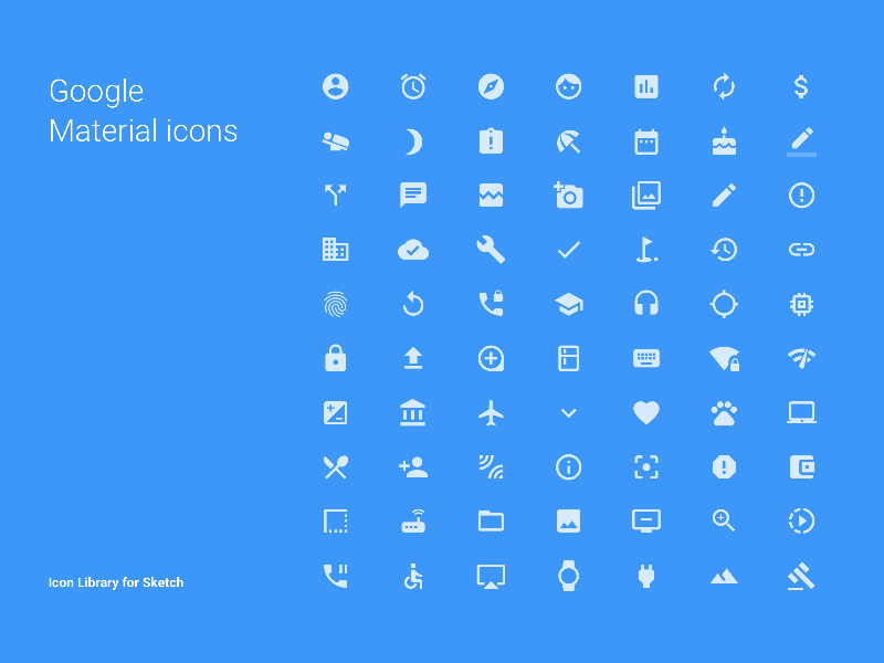 Google Material Sketch Icons