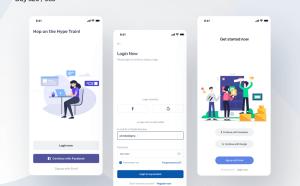 Mobile Login Screens UI Sketch
