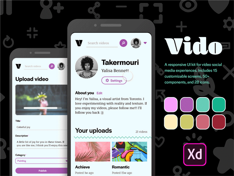 Simple Video Mobile UI Kit