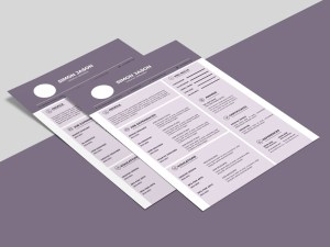 Free Purple Resume Template