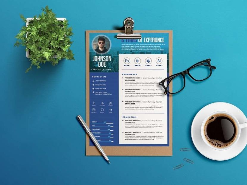 Free Professional Designer Resume Template