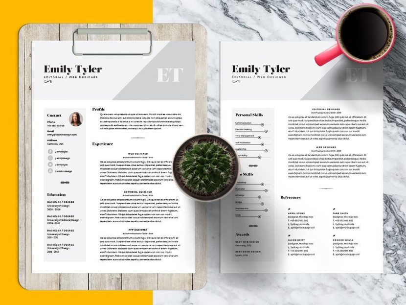 Free Professional Indesign CV/Resume Template