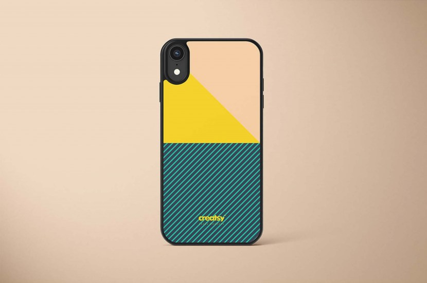 Free iPhone XR Case Mockup PSD