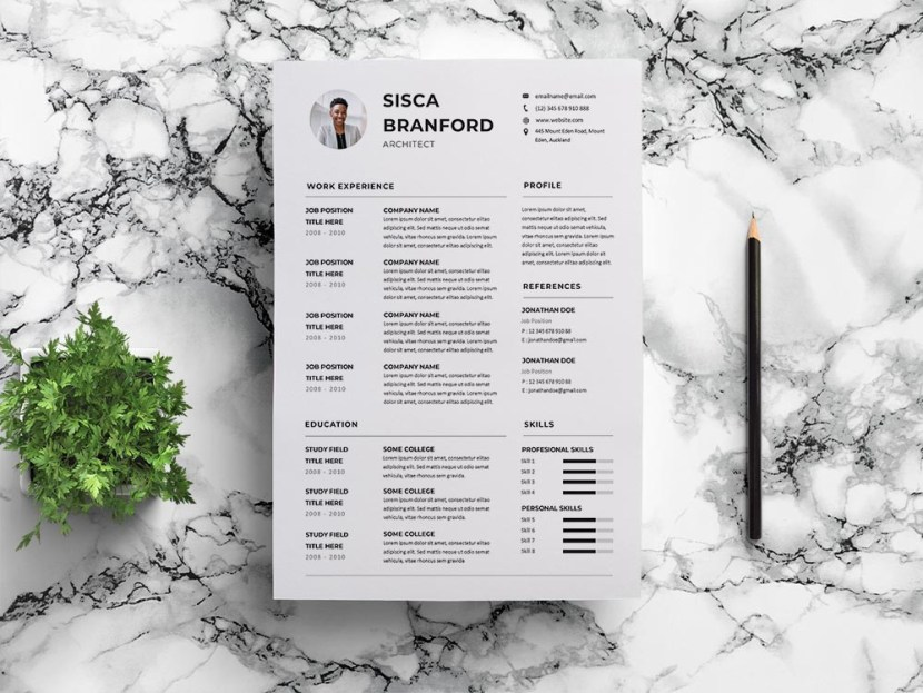 Free Architect CV/Resume Template