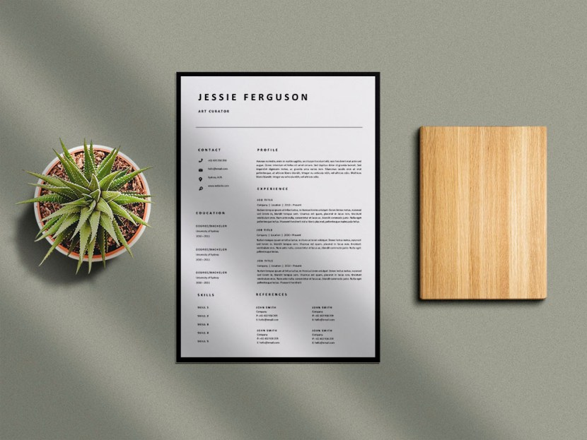 Free Simple Single Page Resume Template