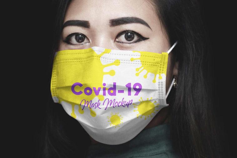Free Coronavirus (Covid-19) Medical Face Mask Mockup