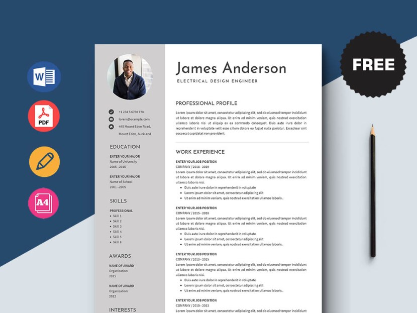 Free Electrical Design Engineer Resume Template