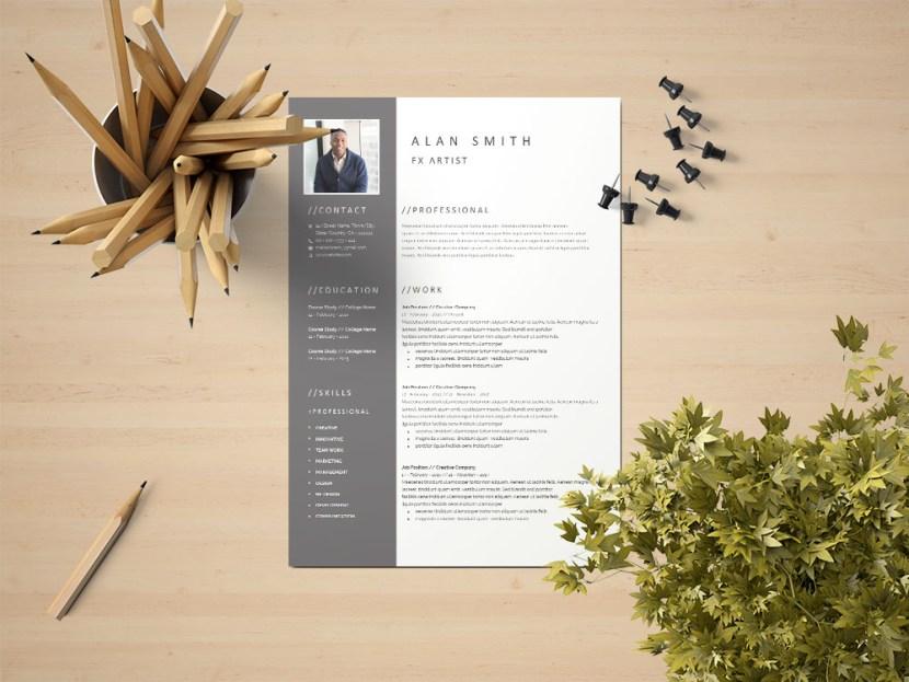 Free FX Artist CV/Resume Template