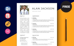 Free Mortgage Closer Resume Template