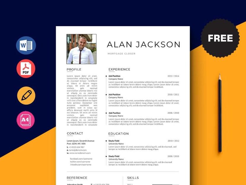 Free Mortgage Closer CV/Resume Template