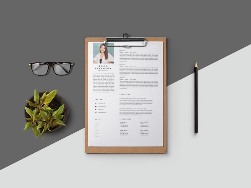 Free Set Designer CV/Resume Template