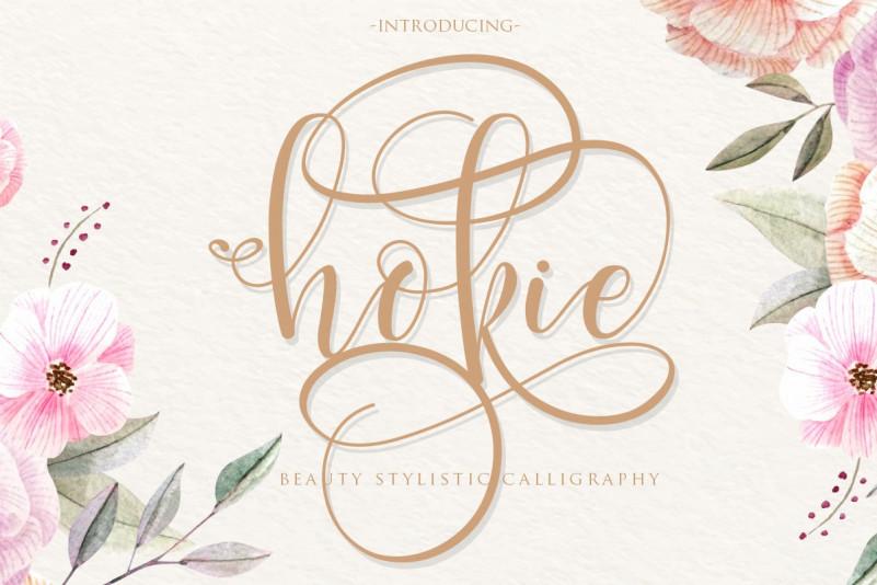 Hokie – Free Calligraphy Font